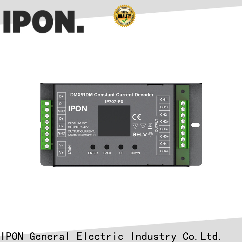 IPON LED dmx 4 channel rgb led controller supplier for Lighting control