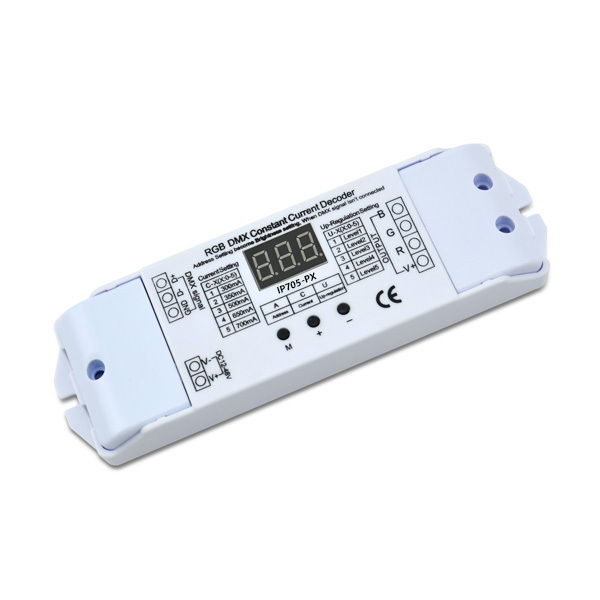 200mA to 1600mA4ch 12-50VDC Connector Button CC DMX Decoder IP707-PX