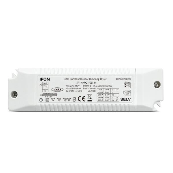 10W 120,180,240,300mA1ch CC DALI Driver IP1HMC-10D-0
