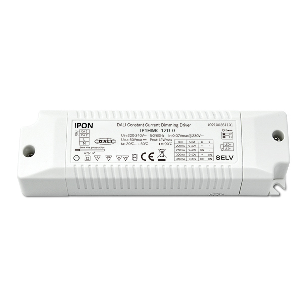 12W 200,250,300,350mA1ch CC DALI Driver IP1HMC-12D-0