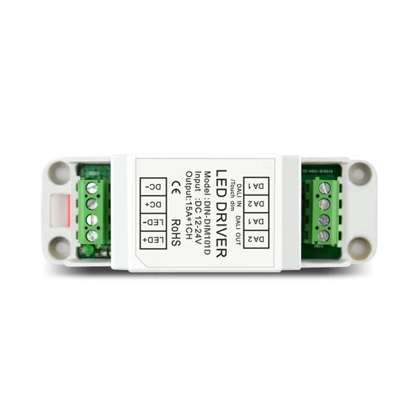product-IPON LED-12-24V 10A1ch TouchDIM CV DALI Decoder DIN-DIM101D-img