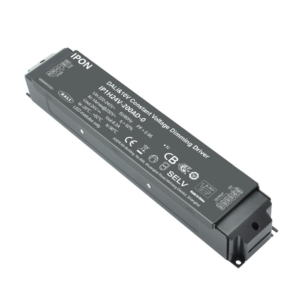 200W 24VDC 8.3A1ch CV DALI,1-10V Driver IP1H24V-200AD-0