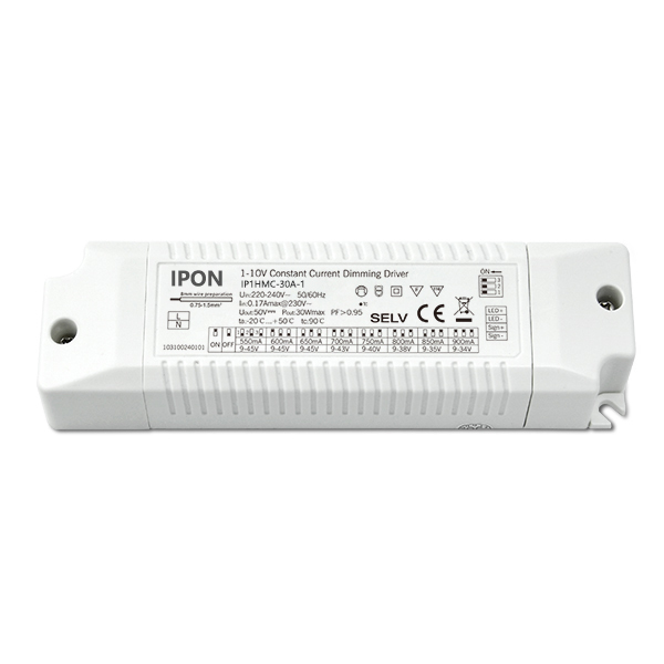 30W 550~900mA1ch CC 1-10V Driver IP1HMC-30A-1