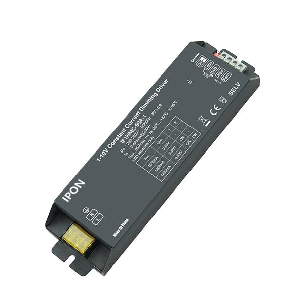 60W 1050,1200,1400mA1ch CC 1-10V Driver IP1HMC-60A-1