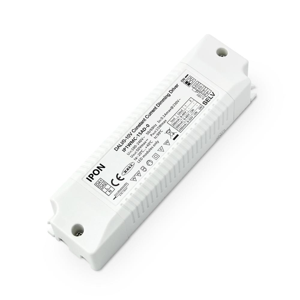 15W 280,350,450mA CC DALI,0-10V Driver IP1WMC-15AD-0