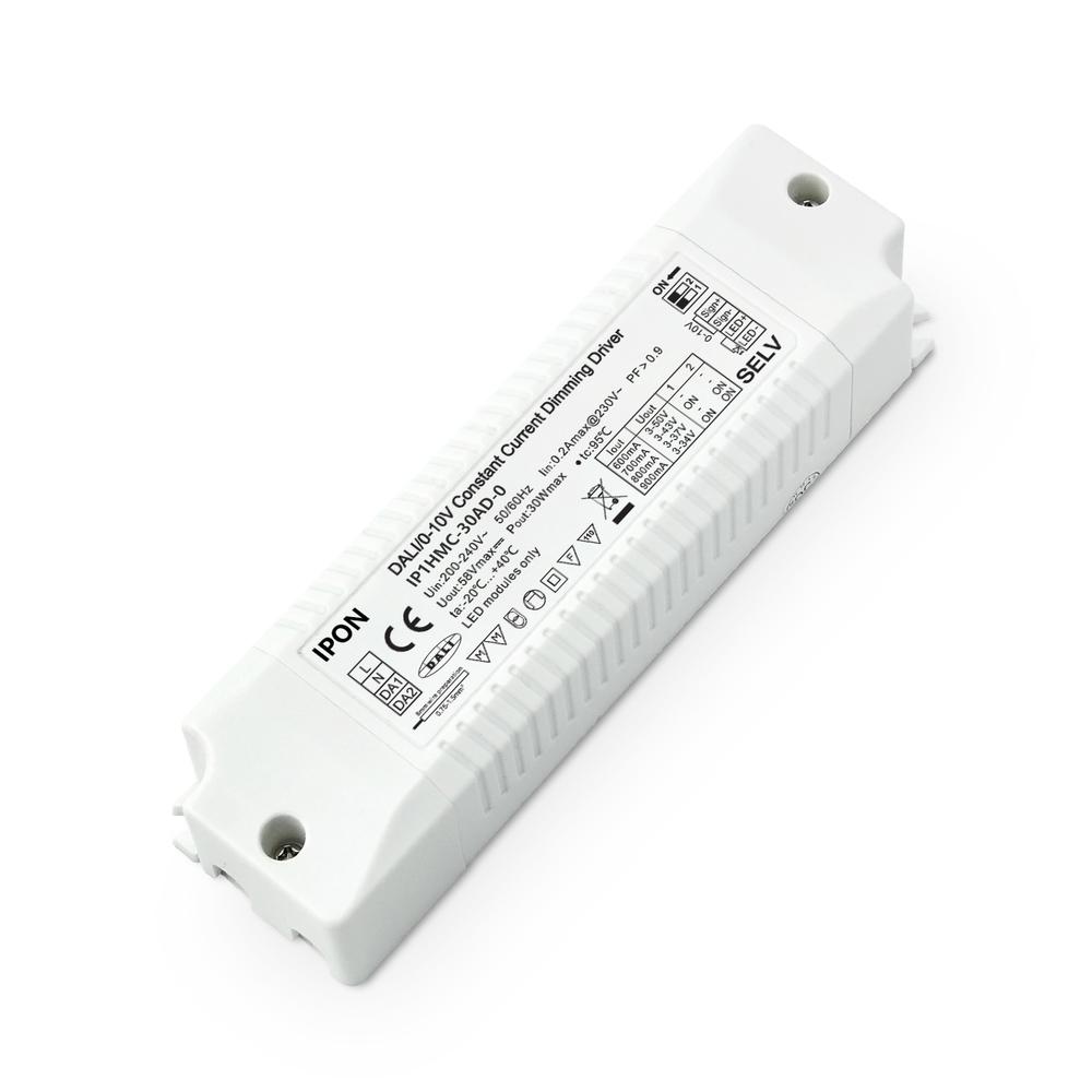 30W 600,700,800,900mA CC DALI,0-10V Driver IP1HMC-30AD-0