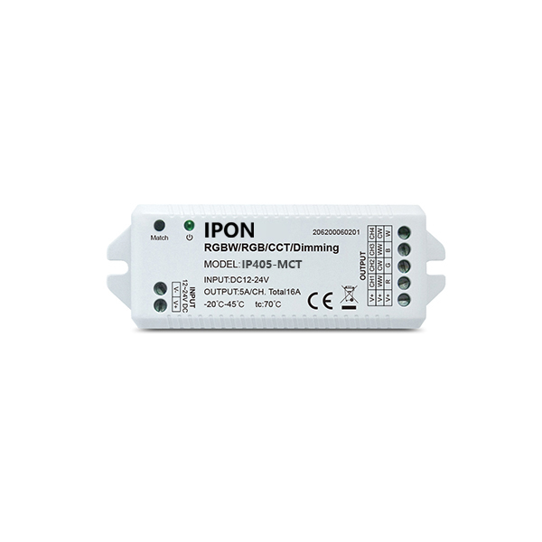 product-IPON LED-5A4ch 24G RGBW Controller IP405-MCT-img