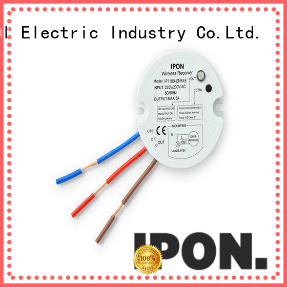 IPON LED wireless light switch and receiver China suppliers for Lighting adjustment