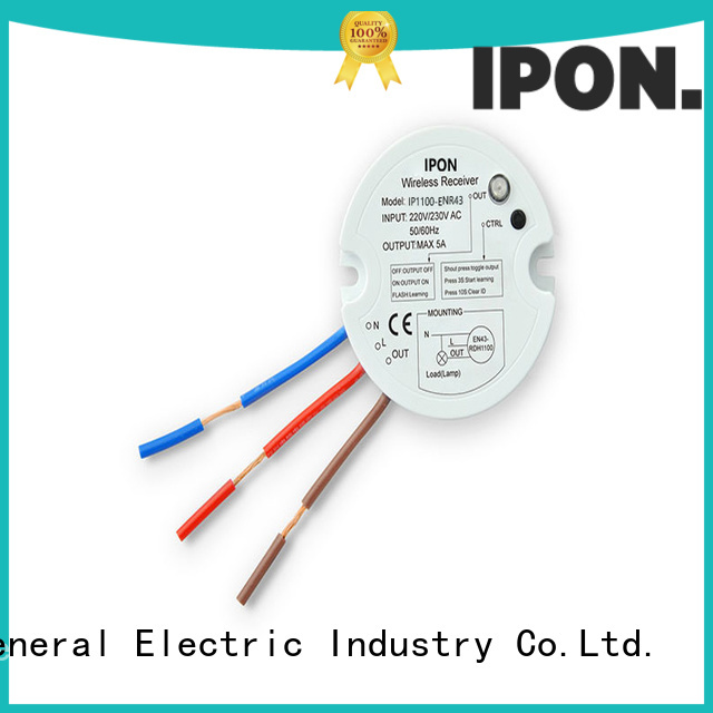 IPON LED quality wireless light switch and receiver factory for Lighting control system