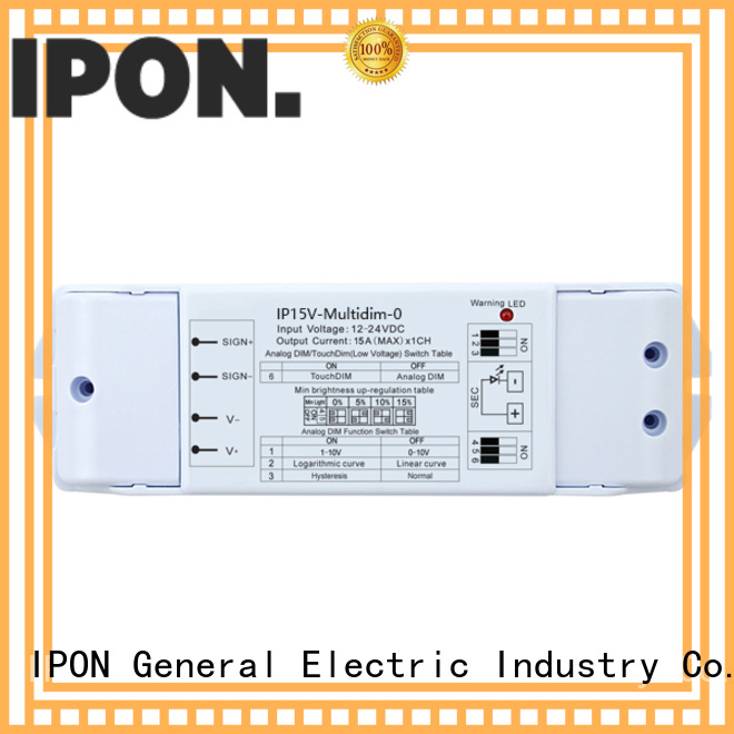 IPON LED 0-10V/1-10V Series dimmer led factory for Lighting control system