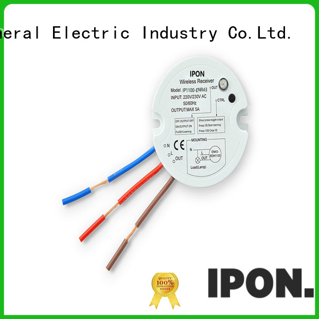 IPON LED wireless switch and receiver supplier for Lighting adjustment