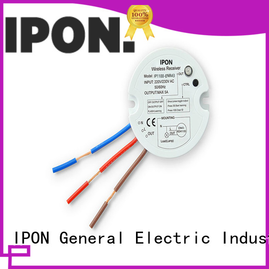 IPON wireless light switch and receiver IPON for Lighting control system