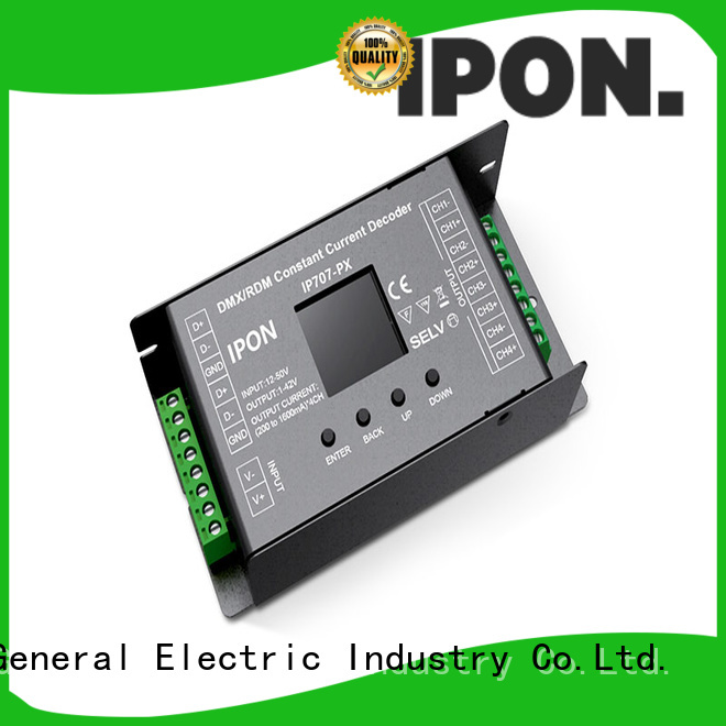 IPON DMX Series led decoder Factory price for Lighting adjustment