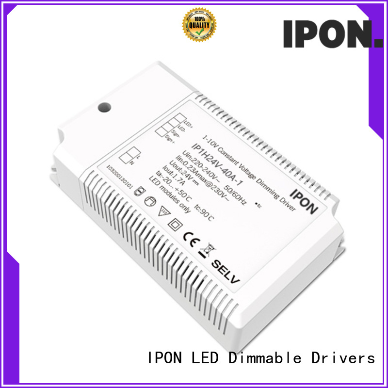 IPON LED Customer praise constant voltage dimmable led driver China manufacturers for Lighting control system
